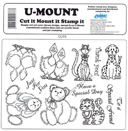 Cute Animals & Wording Uncut & Unmounted Rubber Stamps